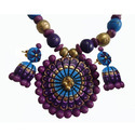 Multicolor Terracotta Necklace Set, Size: Adjustable