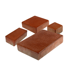 Red Rubber Paver Block