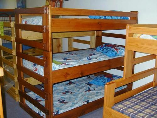 Wooden Three Tier Bunk Bed At Rs 38099 Piece Bunk Beds Online