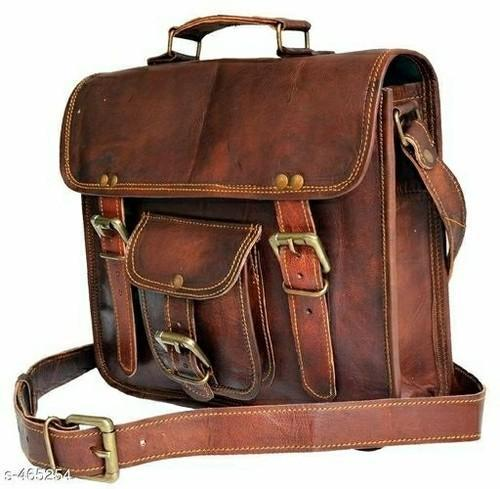 Sling Brown and Tan Leather Bag