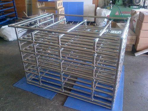 Aravali Engineers Stainless Steel Modular Pipe Storage Racks, Storage Capacity: 100 kg psm