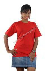 Ladies Round Necked T Shirt