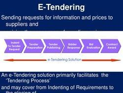 E-Tendering Software