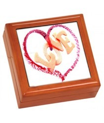 Plastic Printed Sublimation Jewelry Box for Home