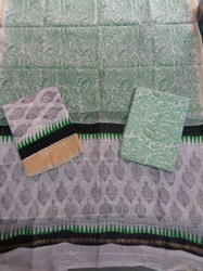 Ghicha Border Plain Chanderi Suit