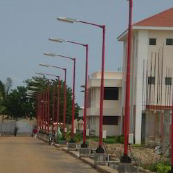 Street Light Swaged Pole