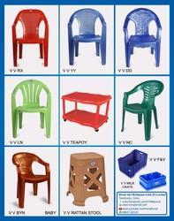 Green And Dark Blue And Sandel 1st Quality Vv National Moulded Chair