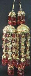 Maroon Pearl Earrings