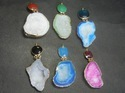 Druzy Agate Geode Electroplated Pendant