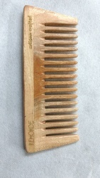 4-5 Inch Brown Neem Wood Combs