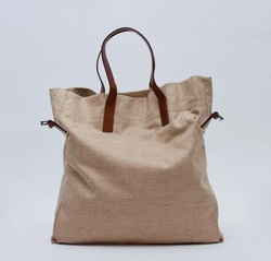Linen Leather Bag