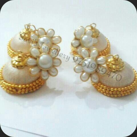 782f816da Silk Thread Jhumkas With Pachi Stud at Rs 150 /pair(s) | Earring Set ...