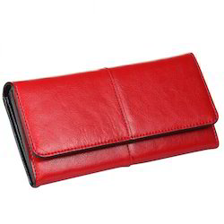 Red Female Ladies Leather Wallet