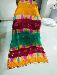 Mirror Style Bandhani Dupatta