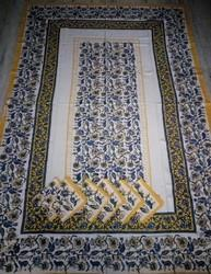 Block Printed Table Cover With Napkins