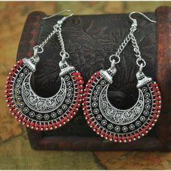 Silver Plated Boho Earrings