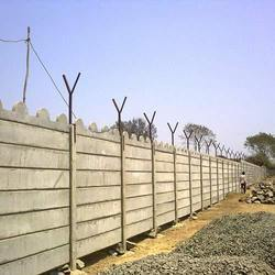 Concrete Industrial Compound Wall