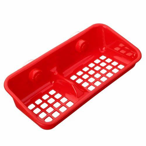 Red Plastic Soap Dish