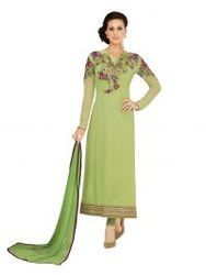 Green Party Wear Designer Georgette Suit