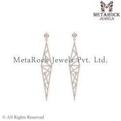 Wholesale 14k Rose Gold Diamond Earring Jewelry