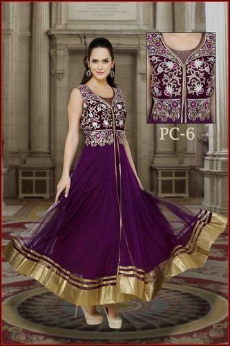 Ladies Designer Anarkalis Suits Manufacturer - Kalidar Embroidered