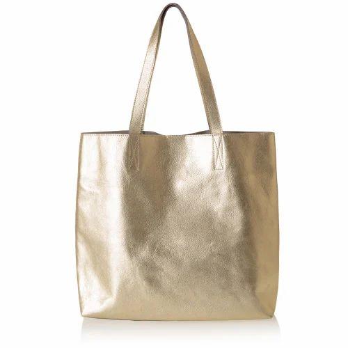 8ec206e252dc9 Gold Metallic Leather Bag at Rs 1250  bag