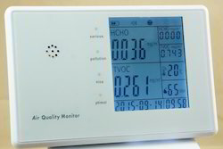 6 In 1 Air Quality Monitor With Pm 2.5 & Pm 10 ( Aqpm 801 )