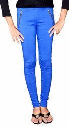 Blue Zipper Jeggings