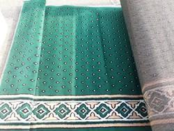 Green Al Ansar Carpet Masjid Carpet, Size: 4x100 feet
