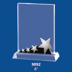Crystal Trophy with Star