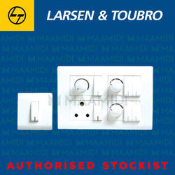 White Plastic L&T Plate Switches