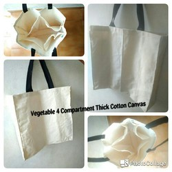 Vegetable bag with 4 compartments