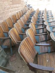 Vintage Industrial Auditorium Chairs