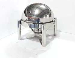 Chafing Dish - Round Doom / Roll Top Type 5-6 Lit. Cap