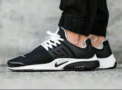 Men Black  white Nike Presto Shoes 827dedbea181
