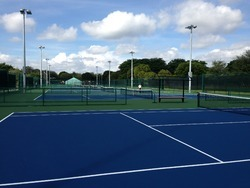 Blue Asian Flooring Outdoor Courts Synthetic Surface