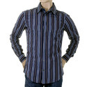 Mens Casual Striped Cotton Shirt
