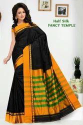 Local Casual Temple Half Silk Fancy Saree