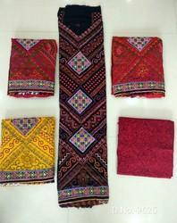 Cotton Spun Suit With Woolen Work