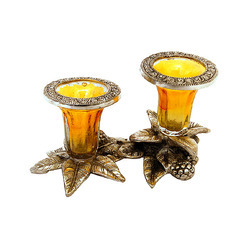 Glowing Metal Candle Holders