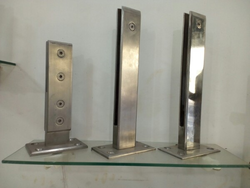Steel Fitting For Glass