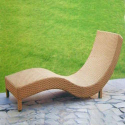 Rattan Unique Pool Side Lounger