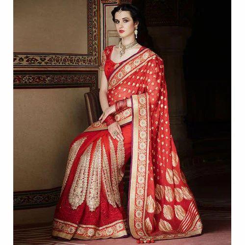71c0e85638 Designer Bridal Saree at Rs 1800 /piece | Bridal Sarees | ID ...