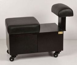 Pedicure Stool with Leg Rest
