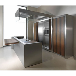 Straight Stainless Steel Modular Kitchen