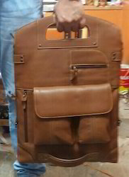 Leather Brown Folded Back Pack