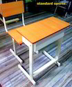 Single Table With Chair 2''''X1'''' Section Powder Coat Model