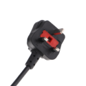 UK Plug Cord With Built In Fuse (Wire :23/36 SWG)