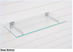 Slatwall Glass Shelf