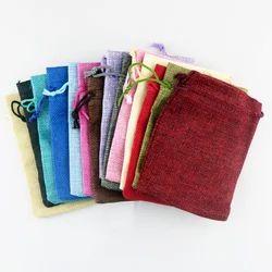 Colored Hessian Burlap Bag